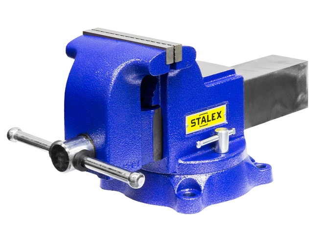 """Тиски слесарные STALEX """"Гризли"""", 150 х 150 мм., 360°, 19,0 кг. Stalex Тиски слесарные Инструмент и оснастка"""